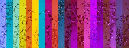Rainbow, drop, drops, water, waters, colorful, backgrounds photo