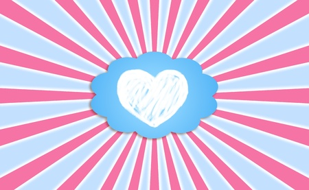Heart, love, feelings, cloud, dreaming, backgrounds photo