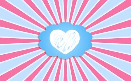 Heart, love, feelings, cloud, dreaming, backgrounds Stock Photo - 13157658