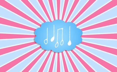 Music, notes, dream, cloud, balloon, background photo