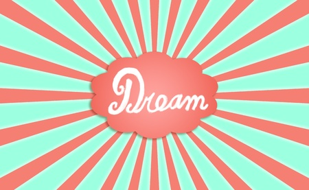 idealized: Dream, green, orange, backdrop, concept, dreams, cloud
