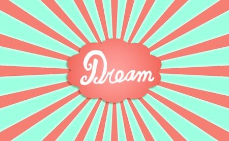 positivism: Dream, verde, arancione, fondale, concetto, i sogni, nube Archivio Fotografico