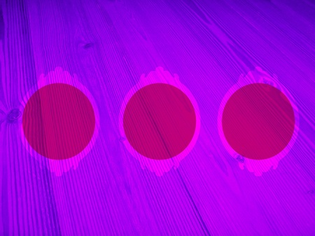 purpleish: Luminous pink and purple circular romantic empty frames for pictures background Stock Photo