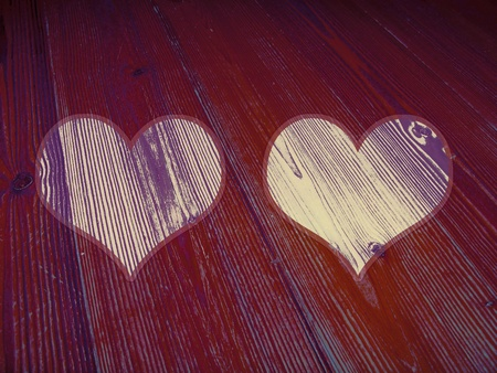 Heart, hearts, romantic, background, violet, purple, brownish, redish photo