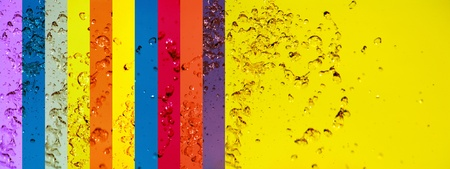 instrospection: Mulricolor, colourful, rainbow, water, banners, backgrounds, drops Stock Photo