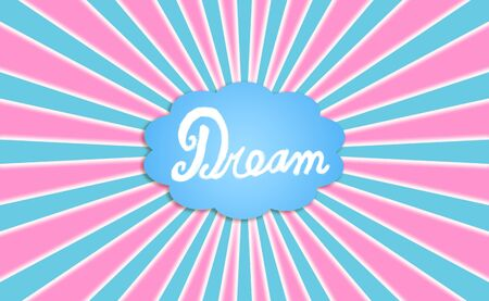 Dream, cloud, comic, background, radial, energetic photo