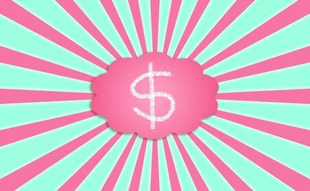 simetric: Money, dollars, cloud, abundance, prosperity, concept