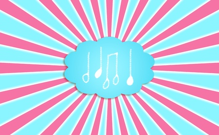 Music, sounds, cloud, dream, compose, background, concept, notes photo