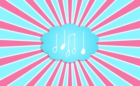 idealized: Music, sounds, cloud, dream, compose, background, concept, notes
