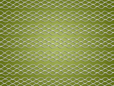 White elegant crochet web over olive green background photo