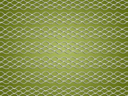 White elegant crochet web over olive green background
