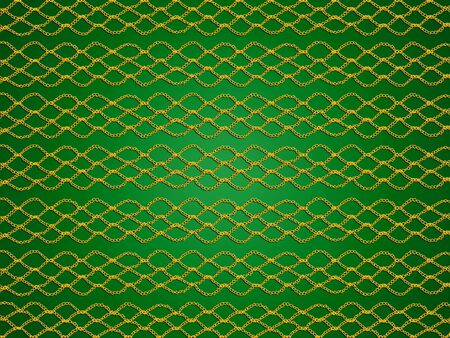 sofisticated: Golden web patterns in crochet over green xmas background