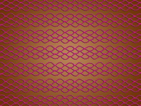 Pink web pattern of crochet laces over brown backdrop photo