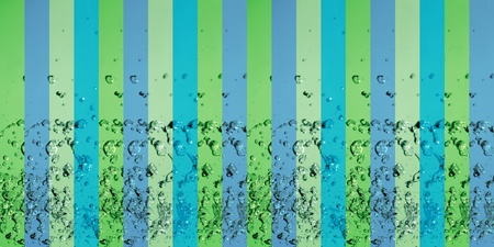 colortherapy: Blue and green lines on fresh background pattern with drops