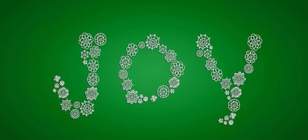 Word joy in crochet flowers over eco green background Stock Photo - 13319778