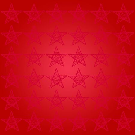 subtlety: Abstract red background with a subtle pattern of five points stars for xmas Stock Photo