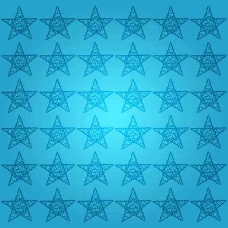 Protective fine points stars pattern background in blues photo