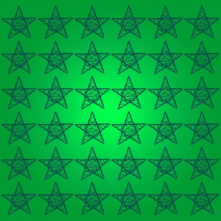 Green background with a pattern of xmas stars photo