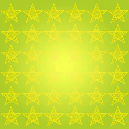 subtlety: Bright light background in luminous yellowish green with yellow stars pattern Stock Photo