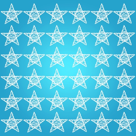 Blue, star, white, stars, square, background, starry photo