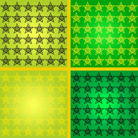 Star, stars, starry, mosaic, mosaics, green, yellow, background Stock Photo - 13357317
