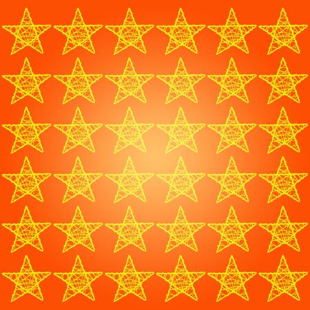 Orange background with patern of yellow five points stars photo