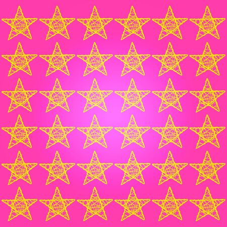 Brilliant festive femenine pink background with five points stars photo