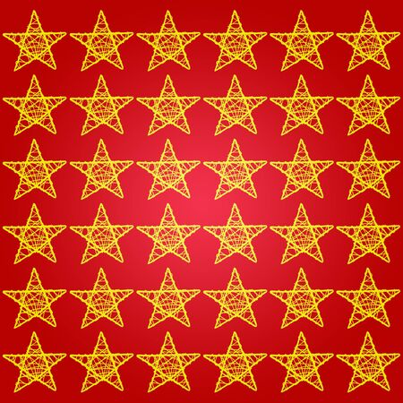 Xmas dark red background with golden stars silhouettes Stock Photo - 13385776