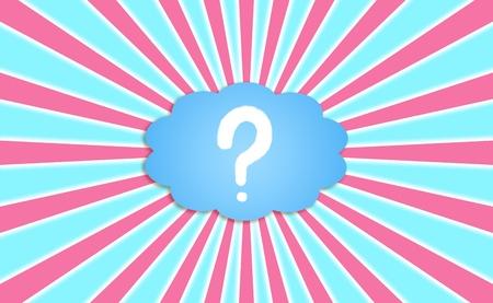 Questions à un nuage avec des rayons en arrière-plan énergétique radiale Banque d'images - 13385640