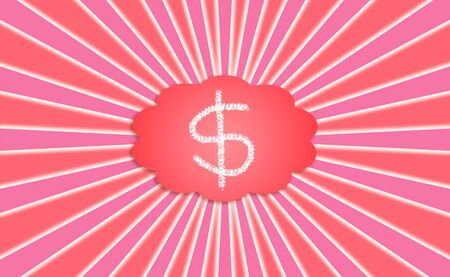 energized: Dollars sign in a red energized cloud for materialization