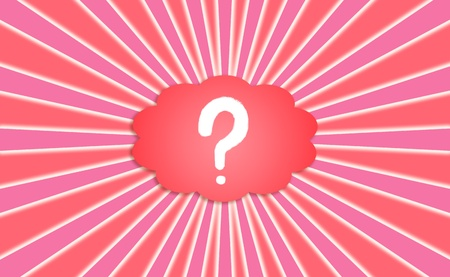 simetry: Question, questions, sign, symbol, cloud, background, red, pink