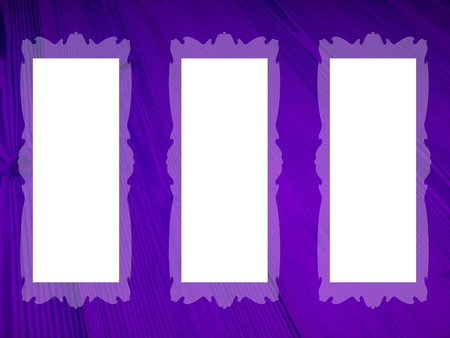 Frames, violet, empty, rectangular, white, backgrounds