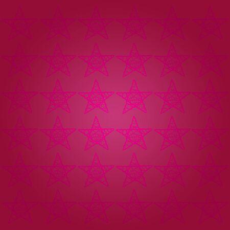pinkish: Soft subtle stars pattern on monochrome background in dark pinkish purple tones Stock Photo
