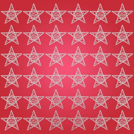 White five points stars over dark soft red background photo