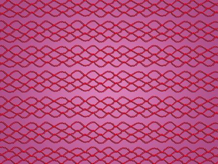 Red crochet pattern as web over soft pink background photo