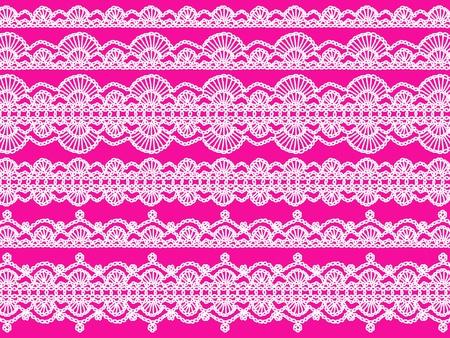 picot: Bianco pizzi all'uncinetto modelli nelle linee pi� rosa