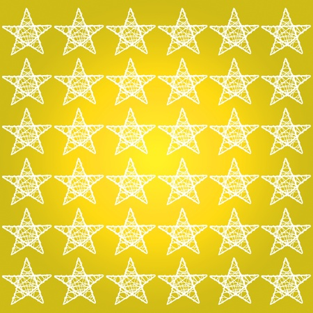 Yellow golden background with white stars pattern photo