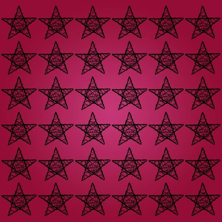 pinkish: Five points stars on pinkish red purple background for xmas