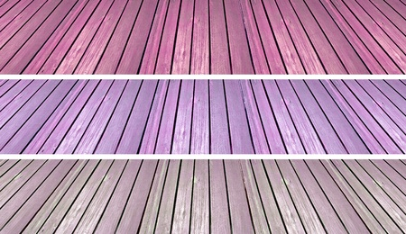 Pink and purple grungy floors of old planks wood as background