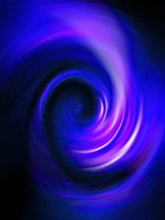 Indigo blue brilliant spiral tunnel background Stock Photo
