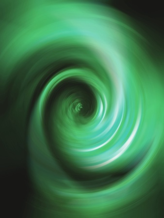 rotative: Emerald green tunnel in a luminous spiral vertical background