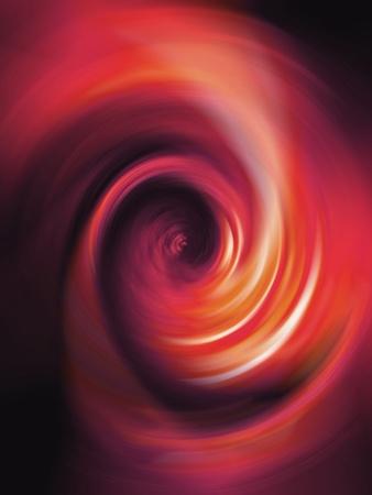 rotations: Warm orange red spiral tunnel in vertical background
