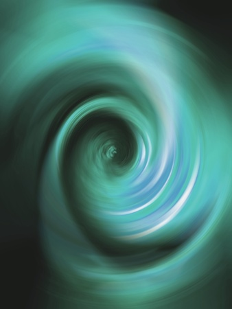 Cian aqua blue swirling tunnel in vertical background Stock Photo - 13516312