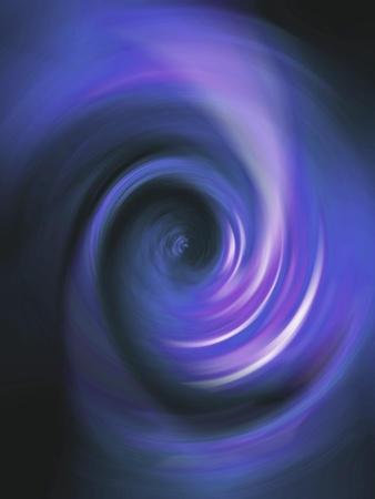 Blue luminous spiral rotating illuminating the darkness Stock Photo - 13524675