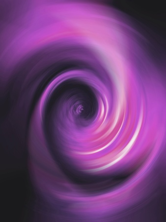 Pink purple luminescent spiral in black background photo