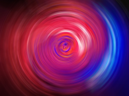Spiral tunnel of pink and blue fire lights background photo