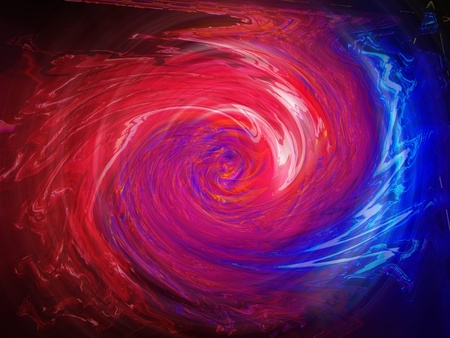 Trembling rays of pink red and indigo blue light swirling background photo