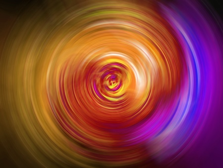 Concentric circular tunnel of light in warm tones