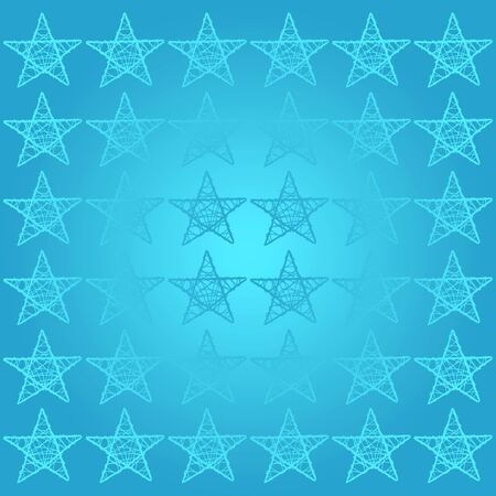 cian: Turquoise background with stars of five points Stock Photo