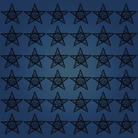 Dark starry background pattern in blue and black photo